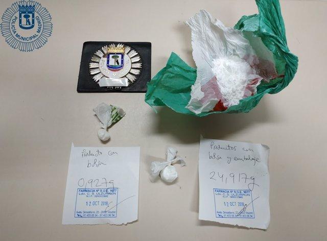 Cocaína intervenida en la operación