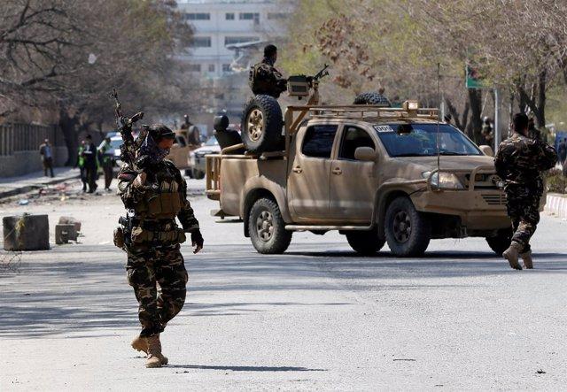 Policía afgana en Kabul