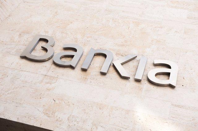 Recursos de Bankia, cartel en su sede social en Valencia.