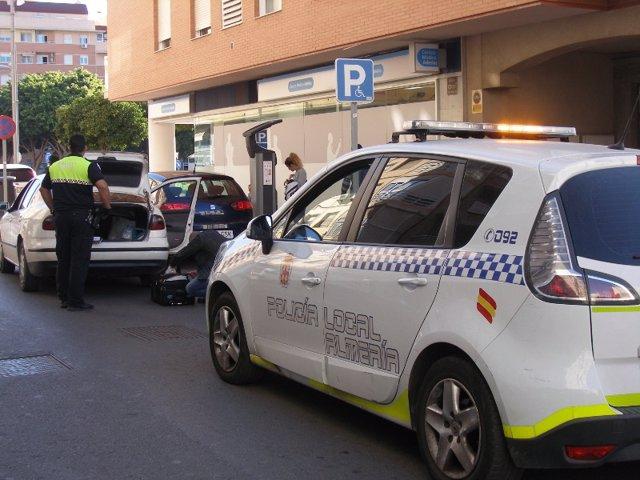 Vehículo de la Policía Local de Almería