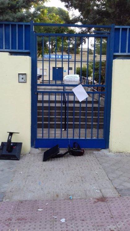 Destrozan aulas enteras en el colegio Ciudad de Valencia de Vallecas