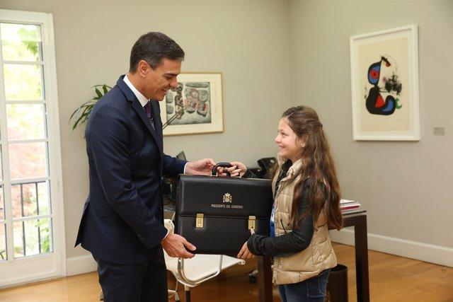 El presidente del Gobierno con Irene