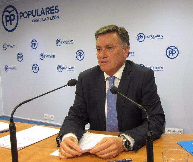 El secretario autonómico del PP de Castilla y León. 15-10-18