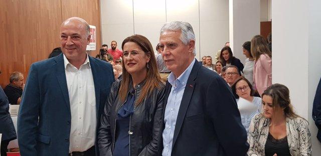 Gaya, entre Ruiz y Menacho al inicio del acto