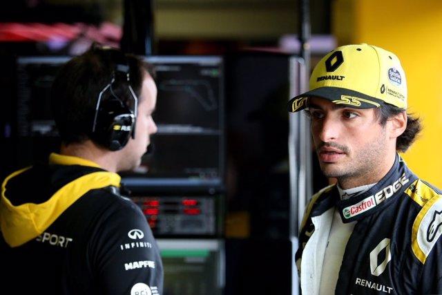 Carlos Sainz (Renault), en el circuito de Monza