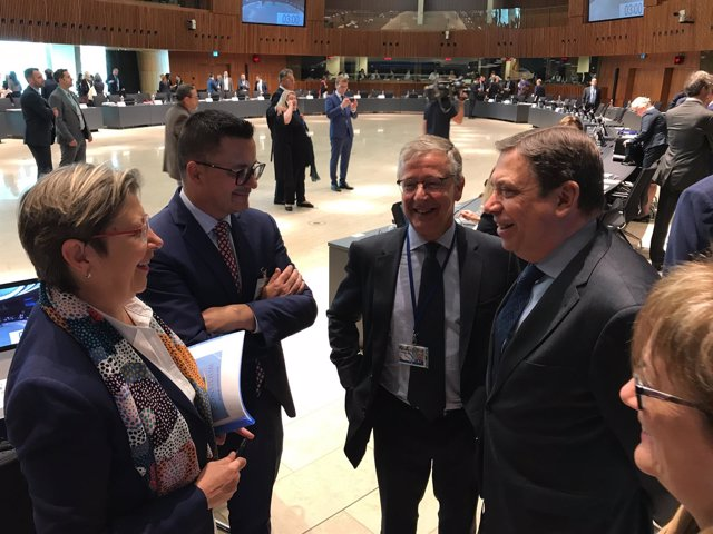 Consejo de Ministros de Pesca en el que participa la conselleira Rosa Quintana