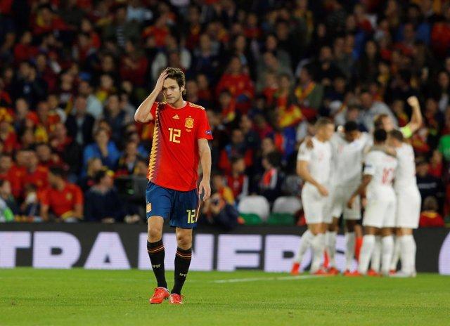 Selección española España Inglaterra Marcos Alonso