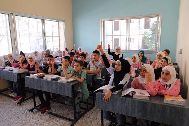 Escuela Al Zaura Banin, en la ciudad de Alepo (Siria)