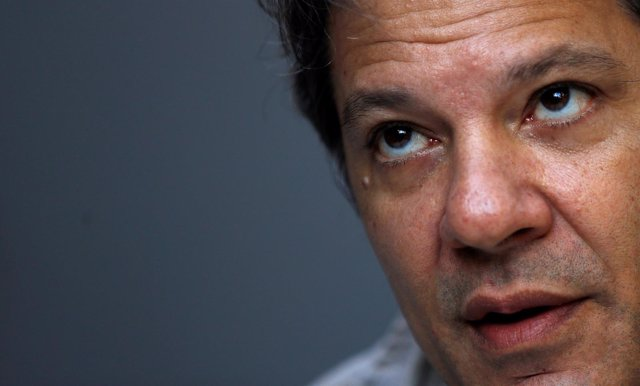 El candidato a la Presidencia de Brasil por el PT, Fernando Haddad.