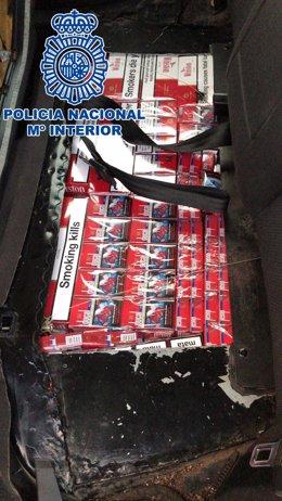 Tabaco de contrabando intervenido en La Línea