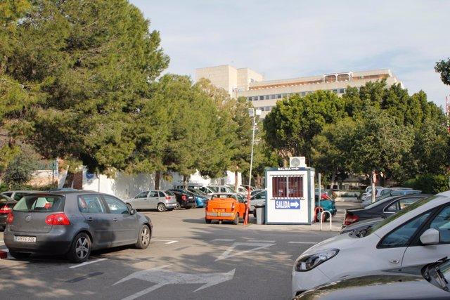 Aparcamientos del Hospital Civil donde irá el tercer hospital de Málaga capital