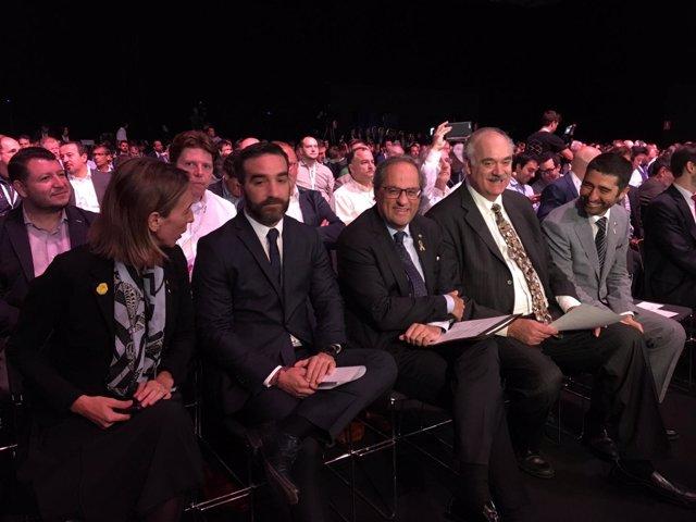 Àngels Chacón, Francisco Polo, Quim Torra, Richard Soley i Jordi Puigneró
