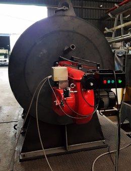Generador de gases calientes.