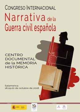Cartel del congreso internacional sobre narrativa de la Guerra Civil