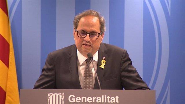 El presidente de la Generalitat, Quim Torra (Archivo)
