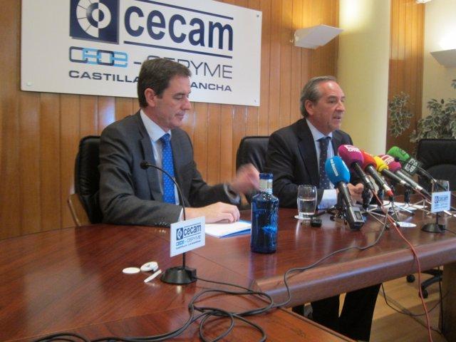 Presidente Y Secretario Cecam, Ángel Nicolás Y Felix Peinado