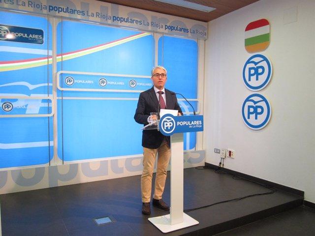 Portavoz del PP en el Parlamento, Jesús Ángel Garrido