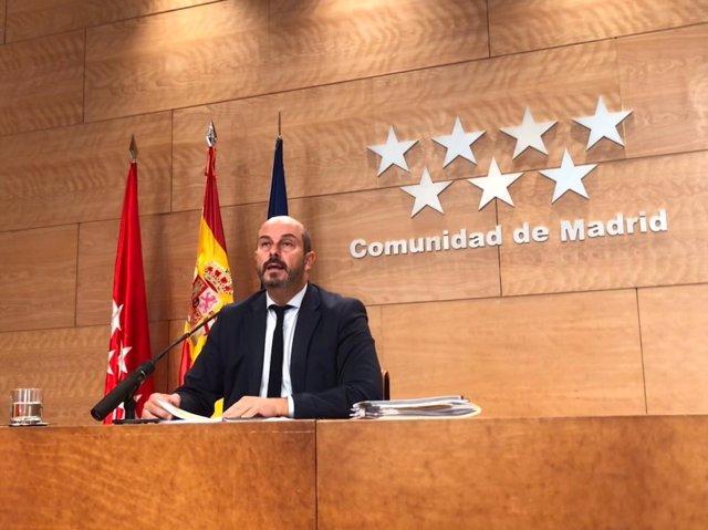 El vicepresidente de Gobierno regional, Pedro Rollán