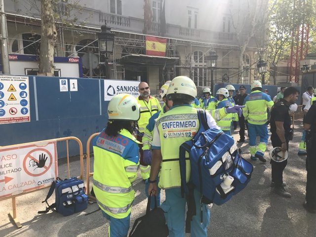 Accidente laboral en el Ritz con heridos