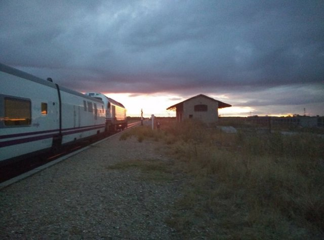 Tren averiado en Extremadura