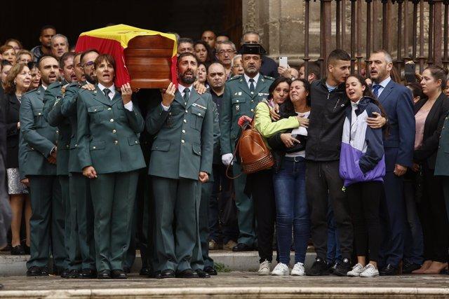 Funeral del agente fallecido tras recibir un disparo en Granada