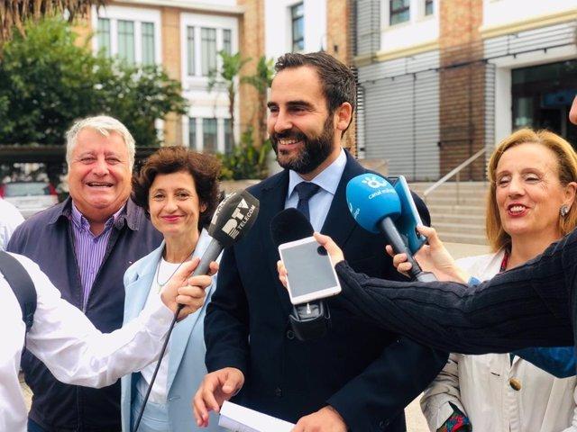 Daniel Pérez, del PSOE de Málaga, en rueda de prensa