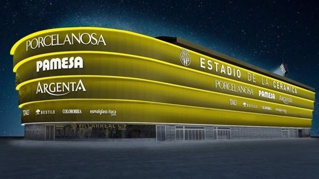Proyección del estadio del Villareal