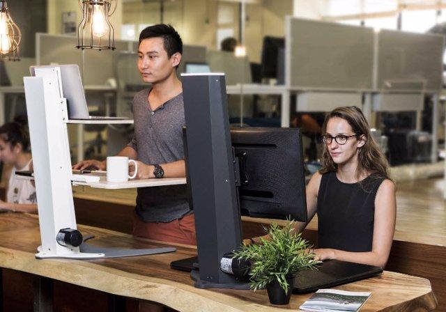 Sit-stand desk, escritorio, trabajo