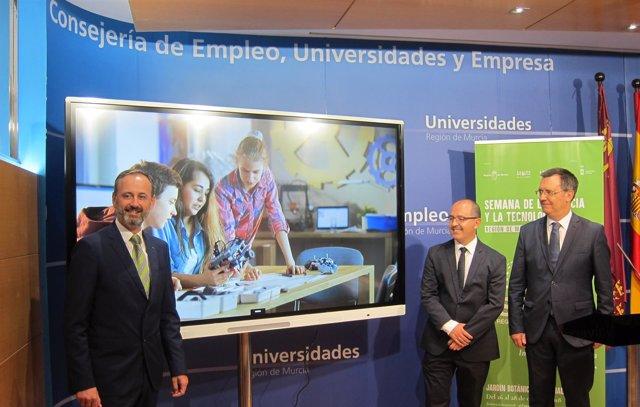 Celdrán (izq) y González (dha) en la presentación de la Semana