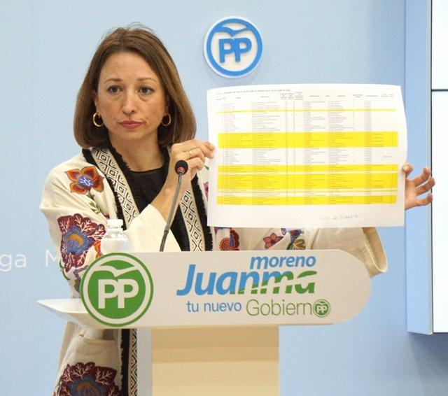 Patricia Navarro, del PP, en rueda de prensa