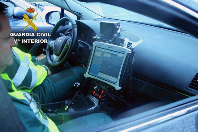 Control velocidad Guardia Civil en Guadalajara