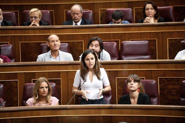 La diputada de Podemos Ione Belarra, en el Pleno del Congreso