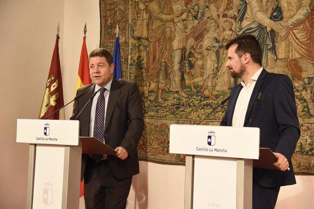 Emiliano García-Page y secretario PSOE Castilla y León