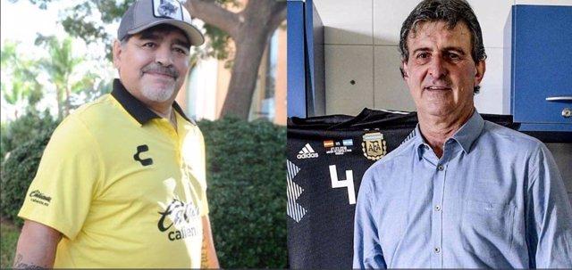 Imágen de Maradona y Mario Kempes