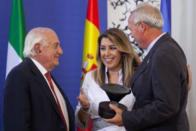Susana Díaz, en los premios de la Fundación Juan Ramón Guillén.