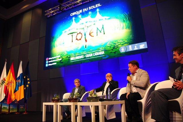 Presentación del espectáculo Totem de 'Cirque du Soleil'
