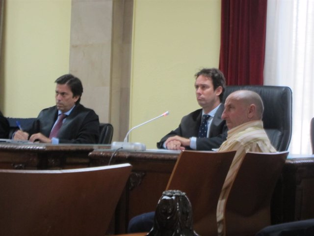 El acusado durante la lectura del veredicto