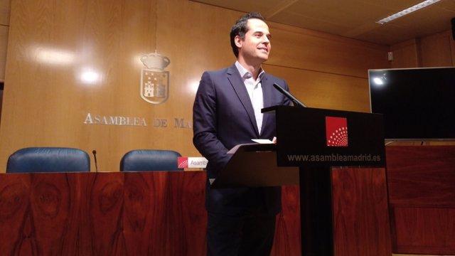 El portavoz de Cs en Asamblea de Madrid, Ignacio Aguado