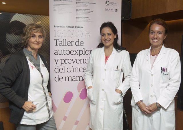 María José Zubillaga, Begoña Olartecoechea y Natalia Rodríguez-Spireti.