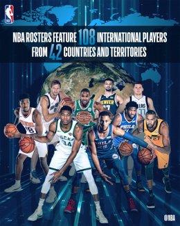 Jugadores internacionales de la NBA