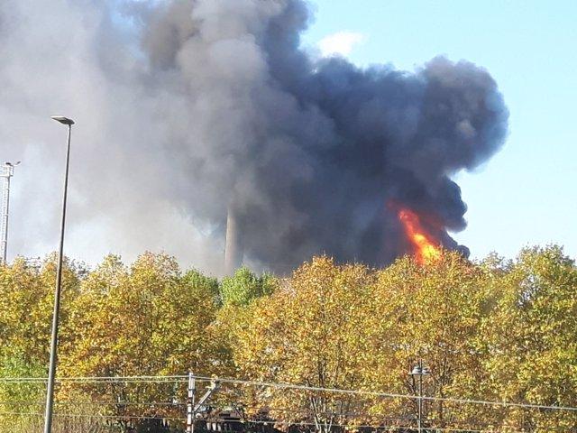 Incendio en ArcelorMittal en Asturias
