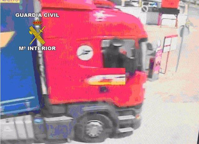 Imagen del camión robado