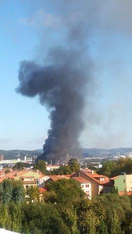 Incendio en ArcelorMittal Asturias