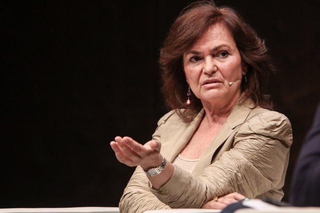 La vicepresidenta del Govern, Carmen Calvo