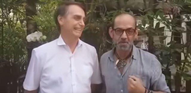 Captura del vídeo de Jair Bolsonaro junto a Lili Ferraz