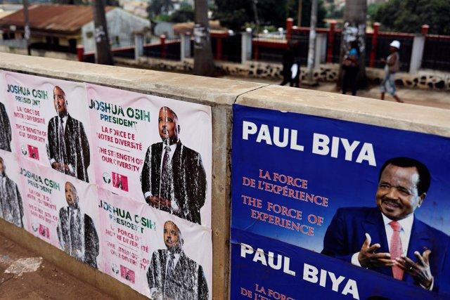 Carteles electorales del presidente de Camerún, Paul Biya