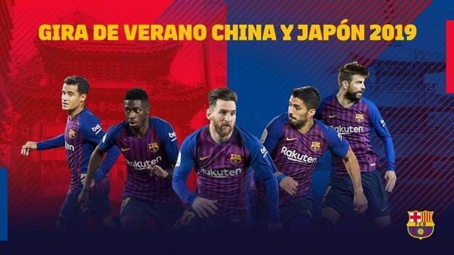 Imagen promocional de la Gira del Barça en China y Japón 2019