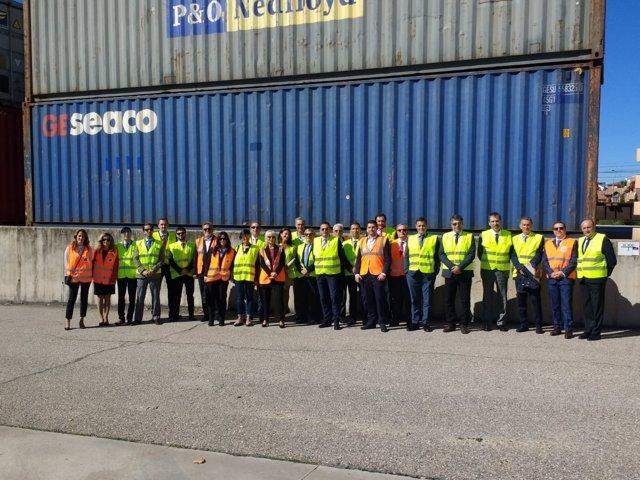 Visita del puerto de Huelva a Puerto Seco/Terminal Intermodal Centro de Azuqueca