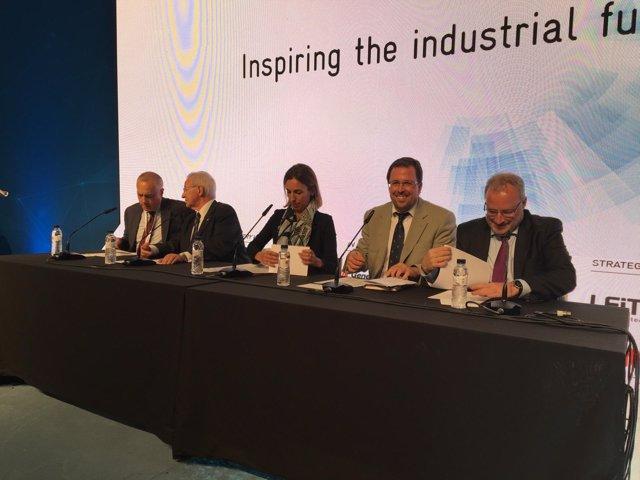 Pere Navarro, Miquel Valls, Àngels Chacón, Raul Blanco y Constantí Serrallonga
