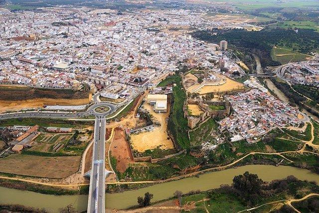 Vista aérea de Alcalá de Guadaíra (Sevilla)